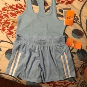 Championship Workout Outfit, Women's XS, Blue NWT